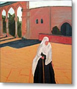 Woman At The Wall Metal Print