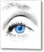 Woman Blue Eye Metal Print by Michal Bednarek