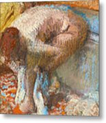 Woman Drying Her Feet Metal Print