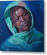 Woman From Darfur Metal Print