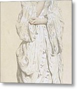 Woman In A Dressing Gown Metal Print by French School