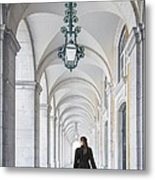 Woman In Archway  Metal Print