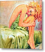 Woman In Blissful Ecstasy Metal Print