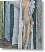 Woman In Blue Robe Metal Print by Don Perino
