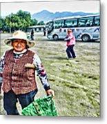 Woman In China Metal Print