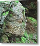 Woman In Rock Metal Print