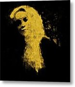 Woman In The Dark Metal Print