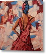 Woman In The Red Gown Metal Print by Lee Ann Newsom