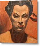 Woman In Thought  Metal Print