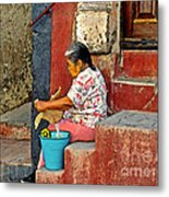 Woman Of Colonial Mexico Metal Print