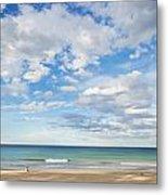 Woman On Manly Beach In Sydney Australia Metal Print