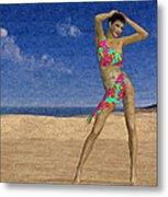 Woman On The Beach... Metal Print