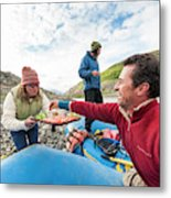 Woman Serving Appetizers, Alsek River Metal Print