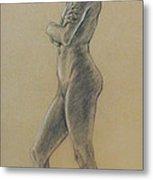 Woman Standing Metal Print