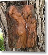 Woman Torso Relief Metal Print by Flow Fitzgerald