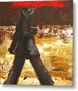 Woman Under A Red Umbrella Metal Print by Patricia Awapara