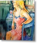 Woman Waiting  Metal Print by Trudi Doyle