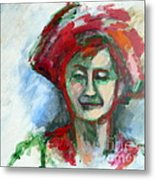 Woman With A Hat - Anne Iv Metal Print