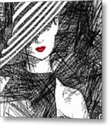 Woman With A Hat Metal Print