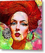 Woman With Earring Metal Print by Chuck Staley