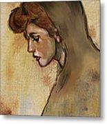 Woman With Hood Metal Print