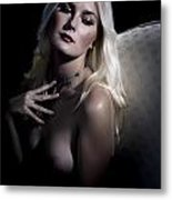 Woman With Nude Breast In Chair 1286.03 Metal Print