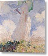 Woman With Parasol Turned To The Left Metal Print