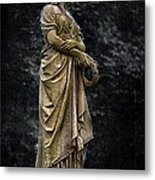 Woman With Wreath Metal Print