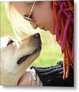 Woman's Best Friend Metal Print