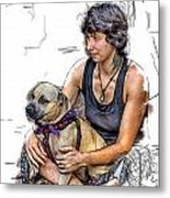 Womans Best Friend Metal Print by John Haldane
