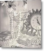 Womans Dressing Table Metal Print