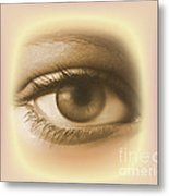 Womans Eye Metal Print