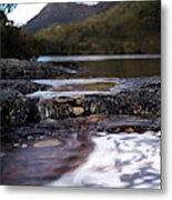 Wombat Pool Lake Spills Into A Small Metal Print