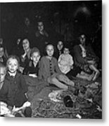 Women And Children In The Barracks Metal Print