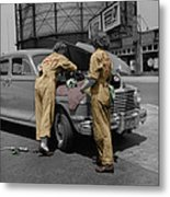 Women Auto Mechanics Metal Print