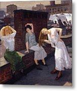 Women Drying Their Hair 1912 Metal Print