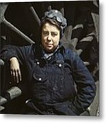 Women Employed As A Wiper At A Railroad Metal Print