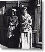 Women  Extras In Old West Costumes Dirty Dingus Magee Set Mescal Arizona 1970 Metal Print