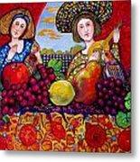 Women fruit and music Metal Print