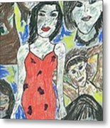 Women Of The 90's Collage Metal Print by Mark Flanagan