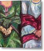 Women Wearing Shawls II Metal Print