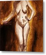 Women With Curves Are Beautiful 2 Metal Print