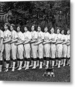 Women's Baseball Team Metal Print