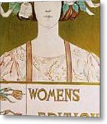 Womens Edition Buffalo Courier Metal Print