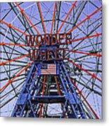 Wonder Wheel 2013 - Coney Island - Brooklyn - New York Metal Print