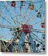 Wonder Wheel Of Coney Island Metal Print