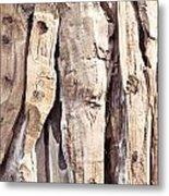 Wood Abstract Metal Print