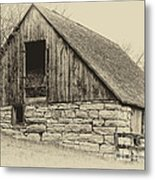 Wood And Stone Metal Print
