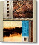 Wood And Stone Rectangular Textures Metal Print