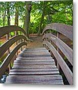 Wood Bridge Metal Print
